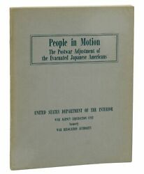 People In Motion Japanese Internment First Edition 1947 Wwii