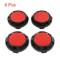 4 Pcs 64mm Dia 4 Clips Car Wheel Tyre Center Hub Caps Covers Protector Black Red