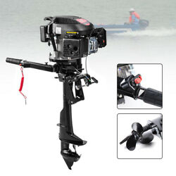4 Stroke 6hp Gas Outboard Motor Fishing Boat Trolling Engine Air Cooling System