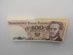 Poland 1986 Years 100 Zlotych 83 Pieces From One Pack