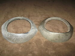 Fabulous Pair Of Vintage Headlight Rims - Possibly Ford - Must See These