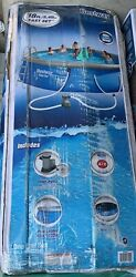 New, Bestway Fast Set 18 Ft X 48 Round Swimming Pool Set W/pump, Ladder And Cover