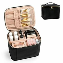 Travel Makeup Bag Cosmetic Bags for Women Makeup Case Small Pack of 1 Black $15.43