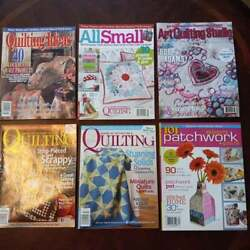 Mixed Lot Of 6 Better Homes And Garden American Patchwork Quilting Magazines
