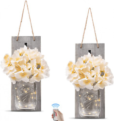 Rustic Wall Sconces - Mason Jars Sconce, Home Large, Grey