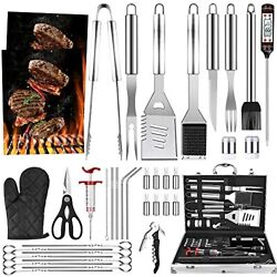 Luyata Bbq Grill Accessories Tools Set, 39pcs Stainless Steel Grilling Barbecue