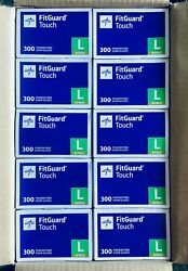 Full Case Of 3000 Large Medline Fitguard Touch Powder-free Nitrile Exam Gloves