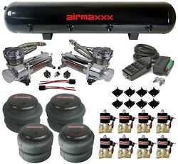 480 Chrome Air Ride Compressors Black 9 Switch 1/2npt 2500 And 2600 Air Bags