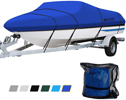 Leader Accessories Solution Dyed Trailerable Runabout Boat Cover Pacific Blue