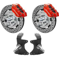 Wilwood Afx Prospindle/disc Brake Kit 11.75 Drilled Rotor Red