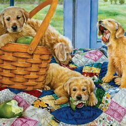Puppy Dog Jigsaw Puzzle Serendipity Puppies Picnic By Susan Brabeau New