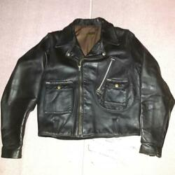 1950and039s Harley Cycle Champ Second Riders Jacket Motorcycle Black Size 38 Japan