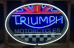 Triumph Motorcycles Neon Sign Triumph Motorcycle Sign Garage Signs For Men