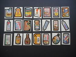 1979 Topps Wacky Packages Complete 1st Series 1 66 Sticker Card Set Nm-