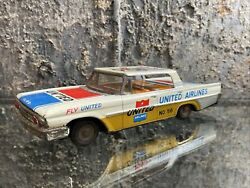 Taiyo Japan Tin Toy Ford United Airlines Airport Service Vehicle No 56 Works