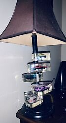 Vintage Lucite Matchbox/hot Wheels-cars9table Lamp-1980's Collectible