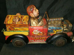Ultra Rare Tinplate Bandai Toys Car Collectible Items 1960 Vintage Battery By M
