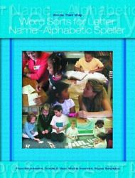 Words Their Way Word Sorts For Letter Name Alp... By Templeton Shane Paperback
