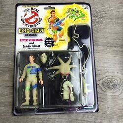 New Real Ghostbusters Peter Venkman And Spider Ghost 1986 Ecto Glow Heroes See Pic