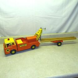 Vintage Nylint Power And Light Co. Post Hole Digger Truck + Trailer Steel 3300