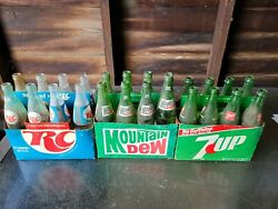 Vintage Acl Soda Bottle With Cardboard Holder Collection