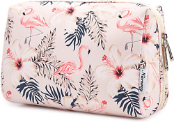 Large Makeup Bag Zipper Pouch Travel Cosmetic Organizer for Women and Girls Lar $13.99