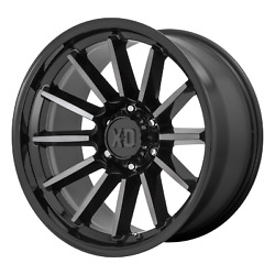 17 Inch 5x127 4 Wheels Rims Xd Xd855 Luxe 17x9 +0mm Black Machined With Gray