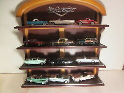 Franklin Mint 1/43 Diecast,12 Car Set, Classic Cars Of '50s, W/display And Book