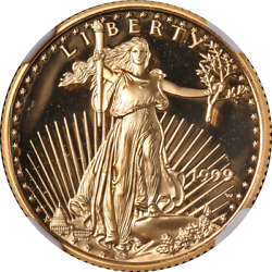 1999-w Gold American Eagle 10 Ngc Pr70 Ultra Cameo Brown Label - Stock