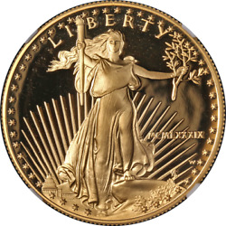 1989-w Gold American Eagle 50 Ngc Pf70 Ultra Cameo Brown Label