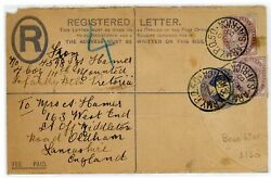 Gb Great Britain Boer War Registered Letter Postmark Army Po South Africa