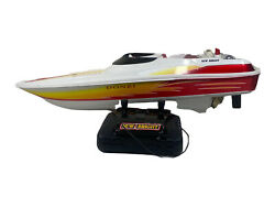 """New Bright Donzi 18"""" Boat With Remote Control - Not Tested As-is For Parts"""