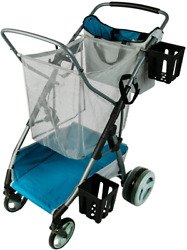 Beach And Field Utility Folding Cart Compact Collapsible Beach Buggy All-terrain