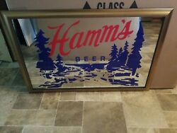 Hamms Beer Mirror Sign Water Trees Lake Scene Man Cave Game Room Bar New 2021 Mn