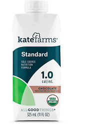 Kate Farms Adult Standard 1.0 Chocolate 12 Ct - New
