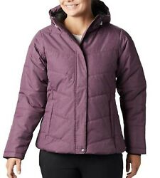 Columbia Womenand039s Mccleary Pass Insulated Hooded Winter Jacket Cherry Heather Nwt