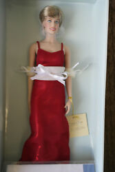 Franklin Mint Princess Diana Doll Red Lame Gown Rare Limited Edition/750 Coa