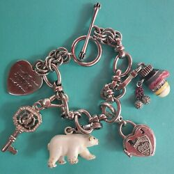 Y2k Silver Juicy Couture Charm Bracelet With Charms
