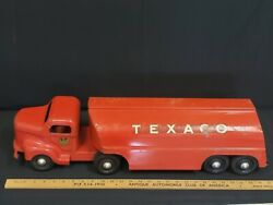 1950and039s Minnitoy - Texaco Tanker Truck Toy - Tour With Texaco Original