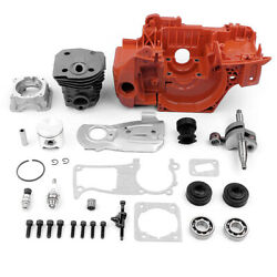 For Husqvarna 350 340 345 Chainsaw 44mm Crankcase Piston Cylinder Motor Assembly