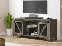 58 Farmhouse Sliding Barn Door Tv Stand For Tvs Up To 65 Television Cabinet
