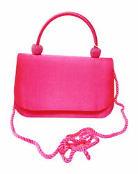 Women Hot Pink Evening Bag Party Clutches Fabric Wedding Cocktail Purse $16.99