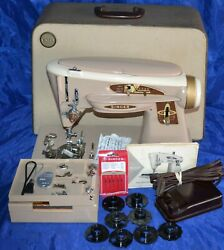 Singer 503 Rocketeer Slant Needle Sewing Machine Serviced Manual Attachments