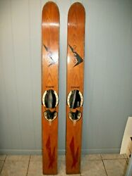 Vintage Desco Supreme Wood Water Skis With Fins Fit For Dandeacutecor Free Shipping