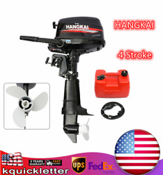 Hangkai 4-stroke 6.5hp 123cc Outboard Boat Engine Motor Water-cooled +cdi New Us