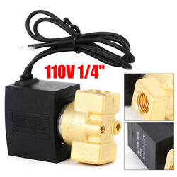Us Brass 1/4 Electric Solenoid Valve 110v-120v Ac Water Air Normally Closed N/c