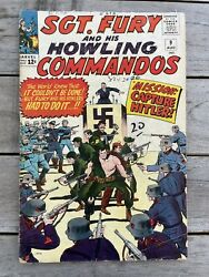 Sgt Fury And His Howling Commandos 9 1964 Hitler Cover 3.0 Gd/vg