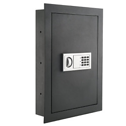 Hidden Wall Safe Electronic Security Flat Panel Valuables Jewelry Cash Lock Box