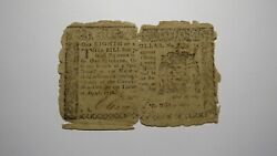 1776 1/8 Dollars New York Ny Colonial Currency Bank Note Bill Rare Issue 1/8