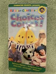 Kids for Character: Choices Count VHS 1997 Bananas In Pajamas RARE OOP $12.00